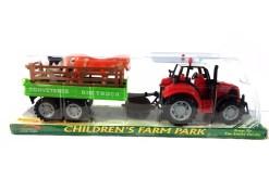 Tractor con remolque de la granja - Fiestas y diversión