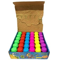 Cans Slime de Frutas Caja con 36 Piezas de Masa cristalina s080