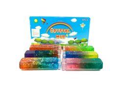 Slime de Hadas Caja con 6 Piezas de Masa cristalina Multicolor con Brillos s086