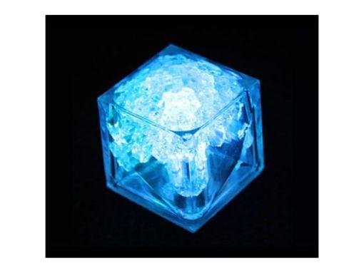 12 Cubos De Hielos 3.4 cm Luminosos Led Sumergible con Switch