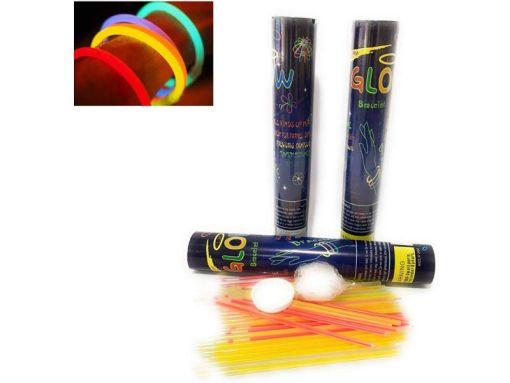 Pulseras de Luz Bote con 45 Neon Cyalume Colores Fiesta