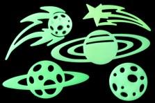 adornos fluorescentes decorativos