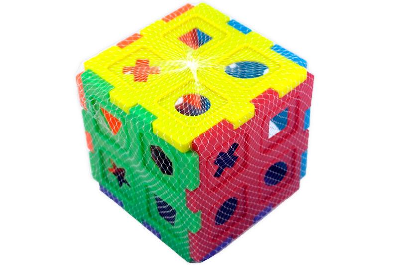 Cubo de ensarte y de ensamble - Wiwi bloques de mayoreo