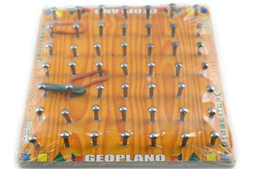 Geoplano Chico de Madera -Wiwi Juegos de mayoreo