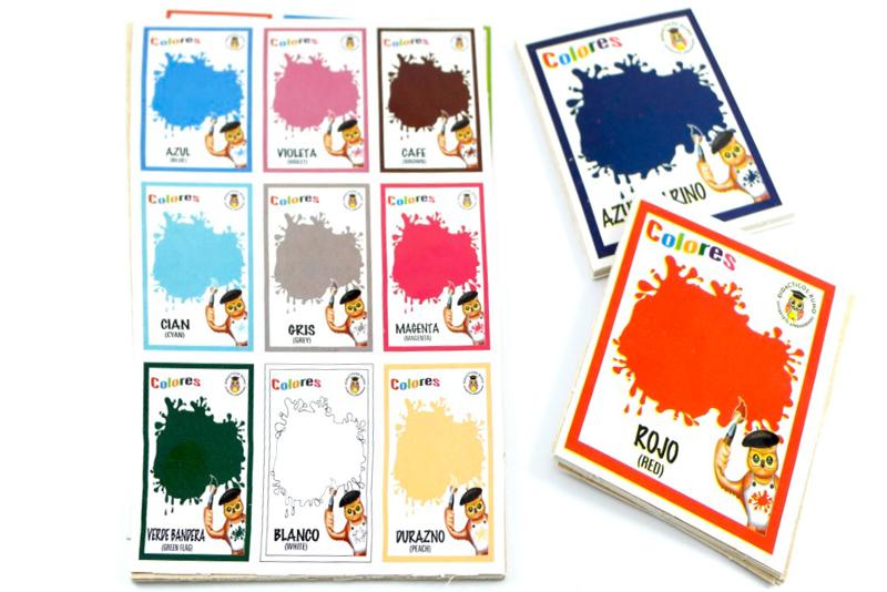 Lotería Didáctica Los Colores - Wiwi Loterías de Mayoreo