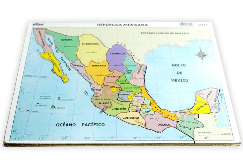 Rompecabezas Mapa De México Wiwi Didácticos De Mayoreo Wiwi - Mapa de mexico