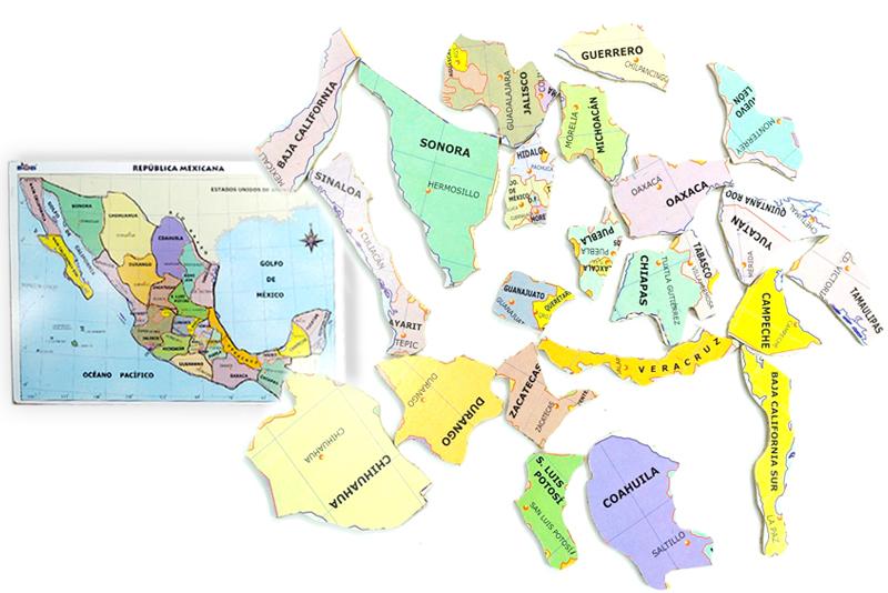 Rompecabezas Mapa De México