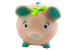 Cerdo Bola alcancía de plastisol con tapa - juguetes de mayoreo