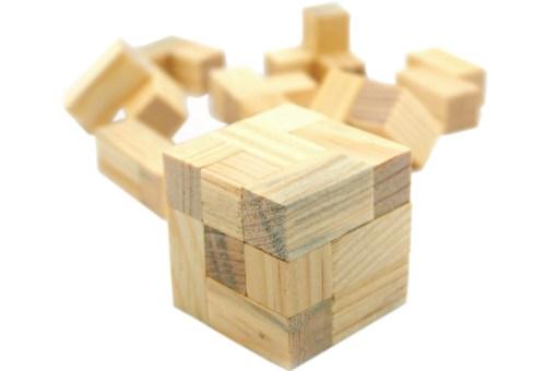 Cubo soma 5 cm rompecabezas de madera - Wiwi Juegos de Mayoreo
