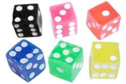 Dados # 4 sólidos 100 piezas – Wiwi juegos de mayoreo