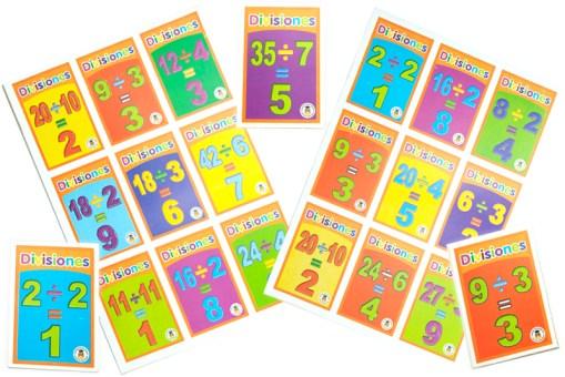 Lotería Didáctica de Divisiones - Wiwi Loterías de Mayoreo