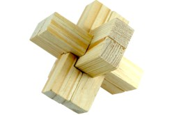 Rompecabezas 3D Cruceta hecho de Madera -Wiwi Juegos de mayoreo