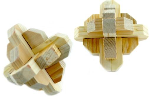 Rompecabezas 3D Cruz Marciana de Madera -Wiwi Juegos de mayoreo