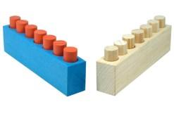 juguetes didácticos, Juego Sensorial Nivel 7 cilindros - Wiwi juegos de mayoreo