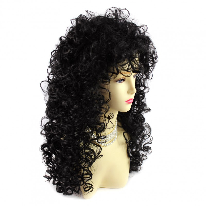 Wiwigs AMAZING SEXY Wild Untamed Long Curly Wig Black
