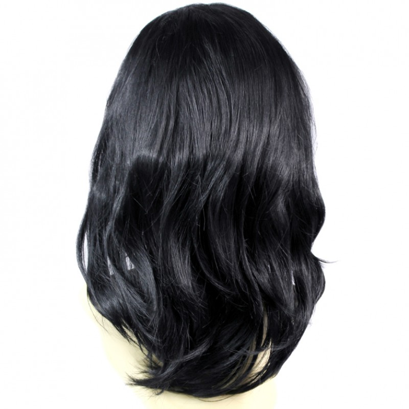 Wiwigs Face Frame Wavy Long Jet Black Ladies Wigs