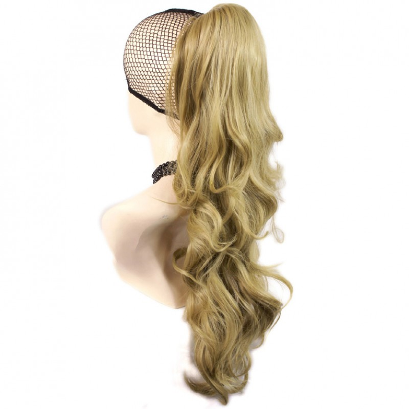Wiwigs Long Wavy Gold Blonde Ponytail Jaw Claw Clip In