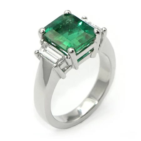 Emerald Cut Emerald Ring Gemstone Jewelry In MN Wixon