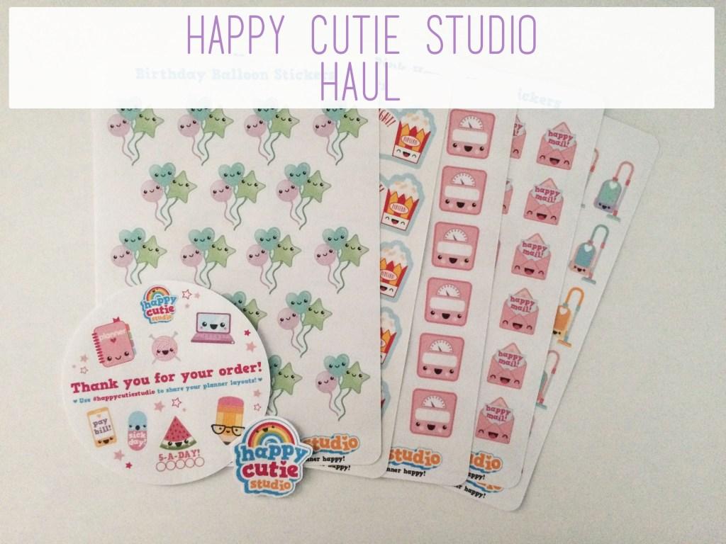 Happy Cutie Studio Haul | The Rebel Planner
