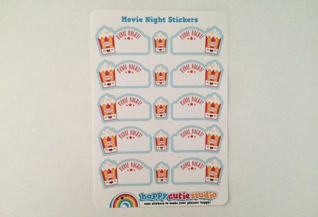 Movie Night Stickers | The Rebel Planner