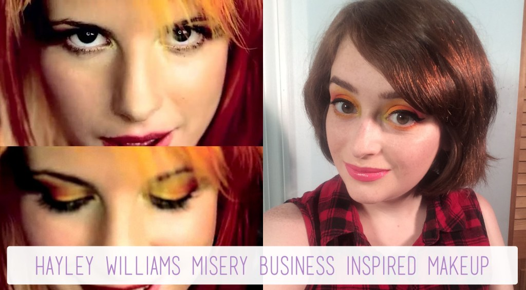 Hayley Williams Misery Business Inspired Makeup   The Rebel Planner
