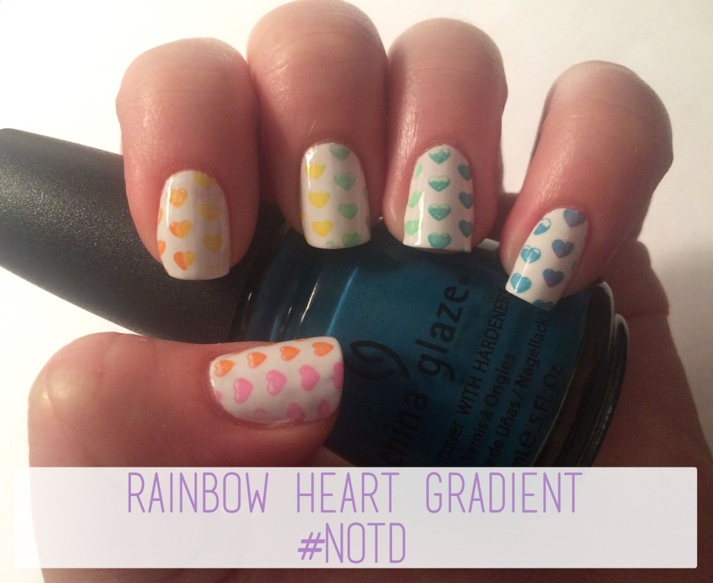 Rainbow Heart Gradient #NOTD   The Rebel Planner