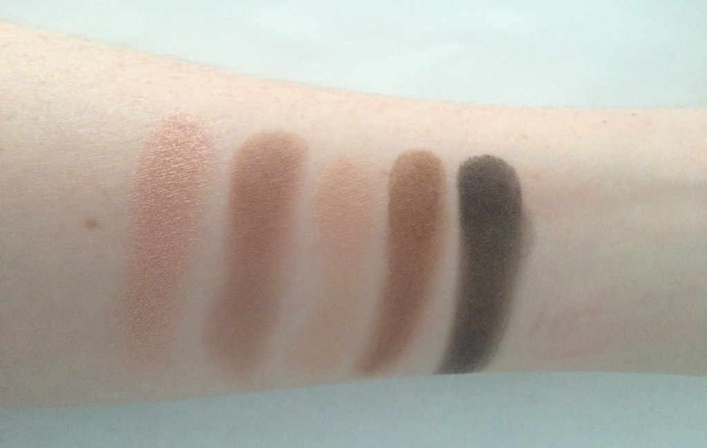 Swatches left to right: Baby, Anaheim, Stark, Zone, Serious.