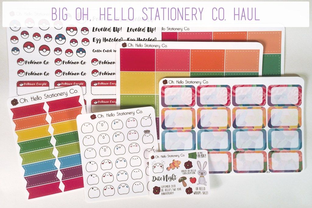 Big Oh, Hello Stationery Co. Haul | The Rebel Planner