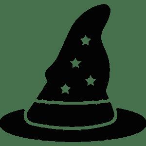 Wizard Room Wizard Hat logo