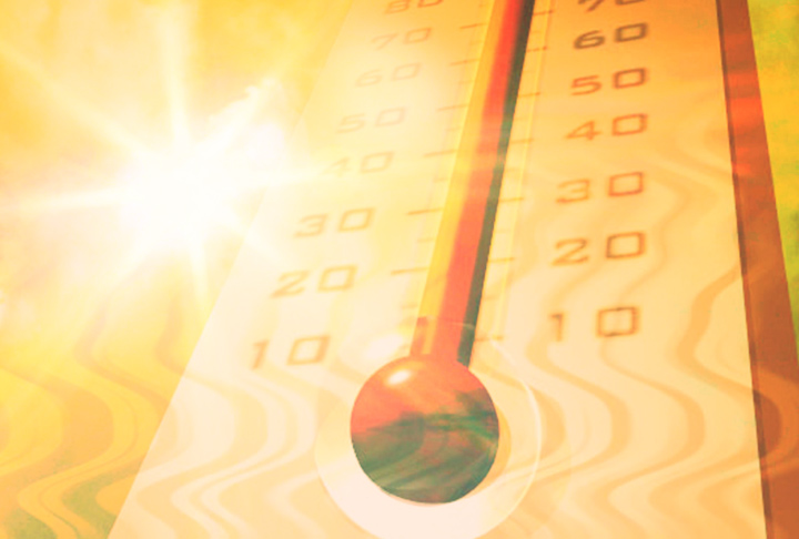 Hot Weather Temperature Thermometer graphic_3102