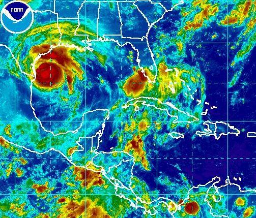 rainbow graphic of hurricane harvey_305250