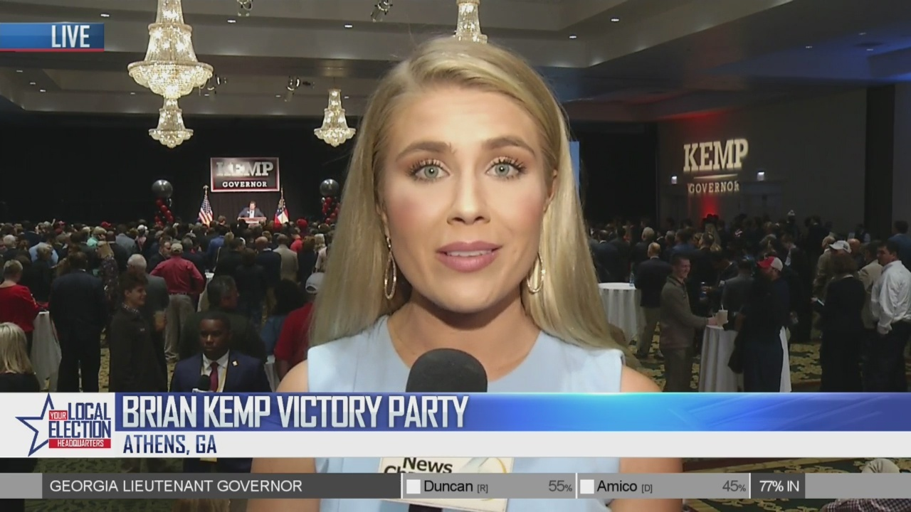 11p Coverage of Kemp Campaign Party in Athens, GA