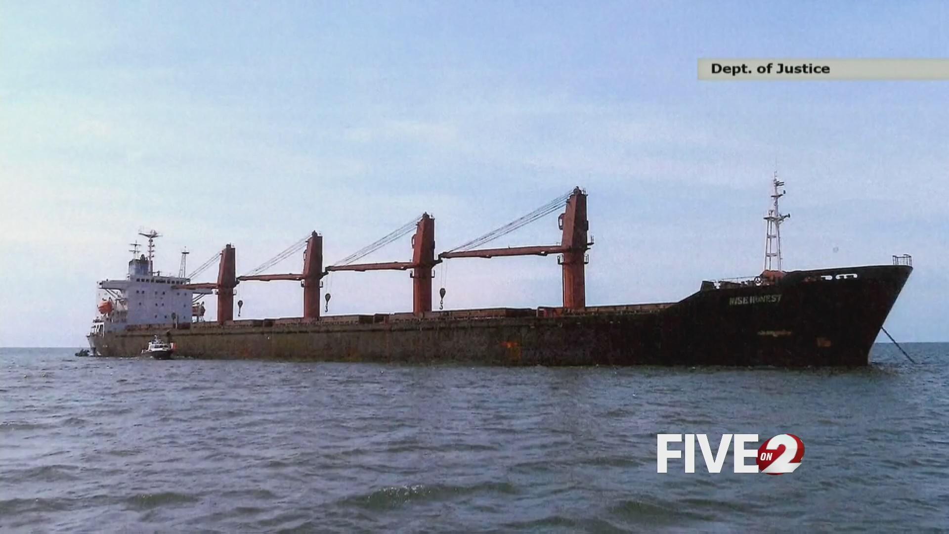 U.S. seizes North Korean ship