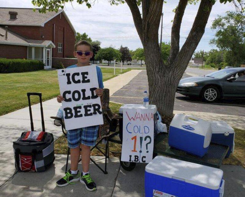 Utah boy advertises 'Ice Cold Beer' at root beer stand | WJBF
