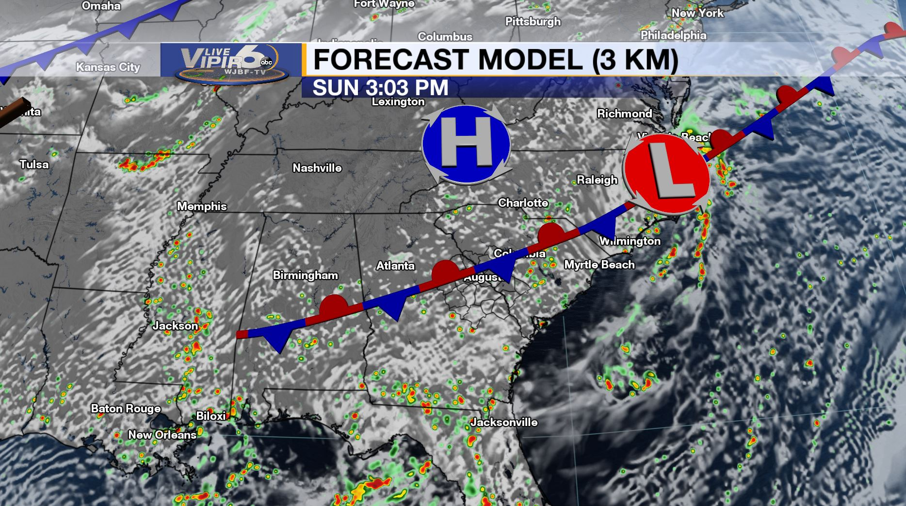 Live VIPIR 6 Weather Forecast 8/17/19 PM | WJBF