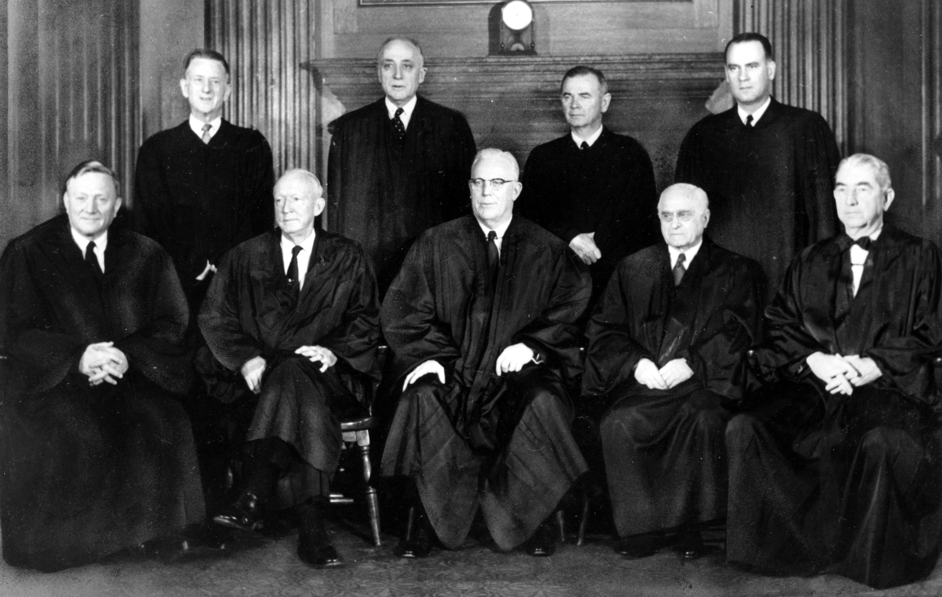 Justices Of The U S Supreme Court Pose For A Portrait In