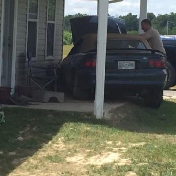 Man arrested on DUI charge after crashing car into Greene Co. home (Image 1)_11517