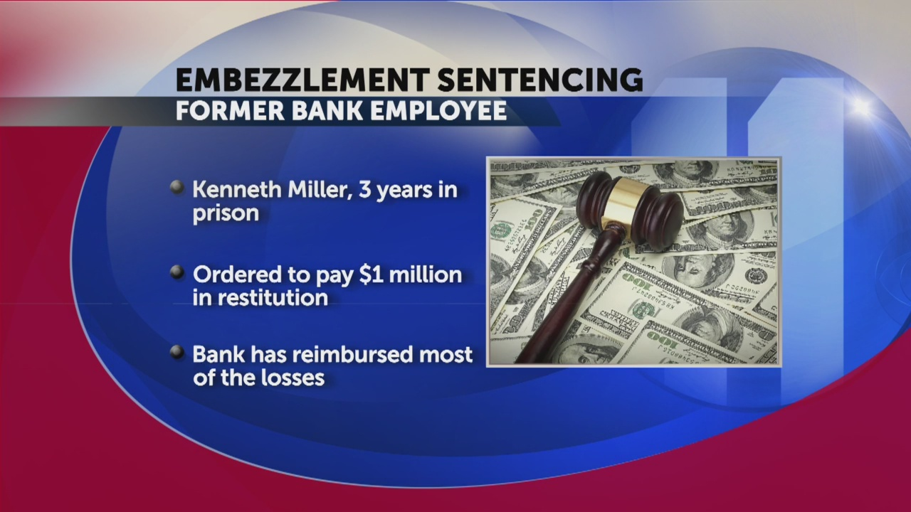 Former First Tennessee Bank manager sent to prison for embezzling $1 million