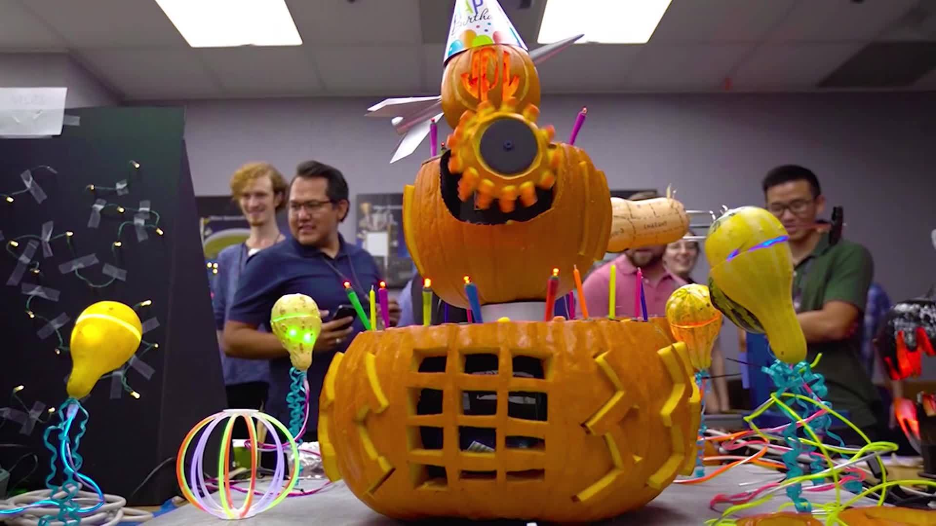 WATCH: NASA engineers get nerdy in pumpkin carving contest