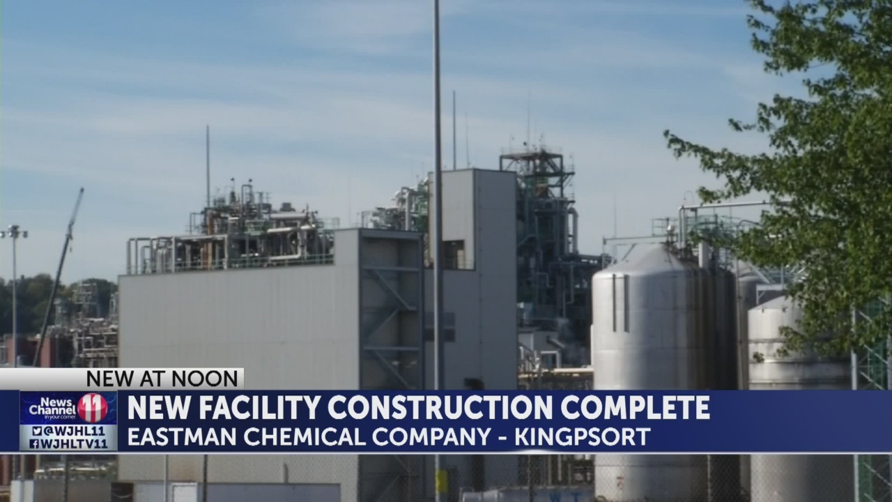 Eastman constructs new isobutyric acid manufacturing facility in Kingsport