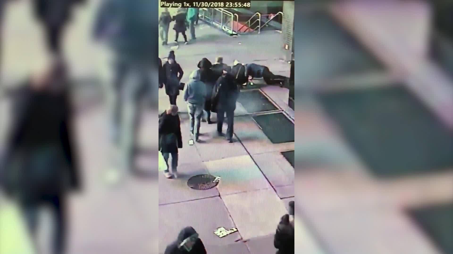 RAW: Man drops engagement ring down NYC drain