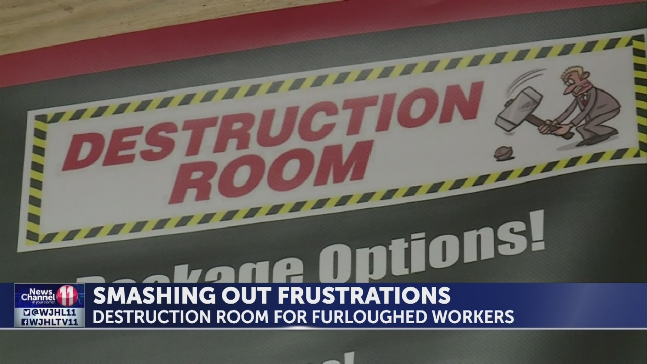 Destruction Room offering stress relief for furloughed workers