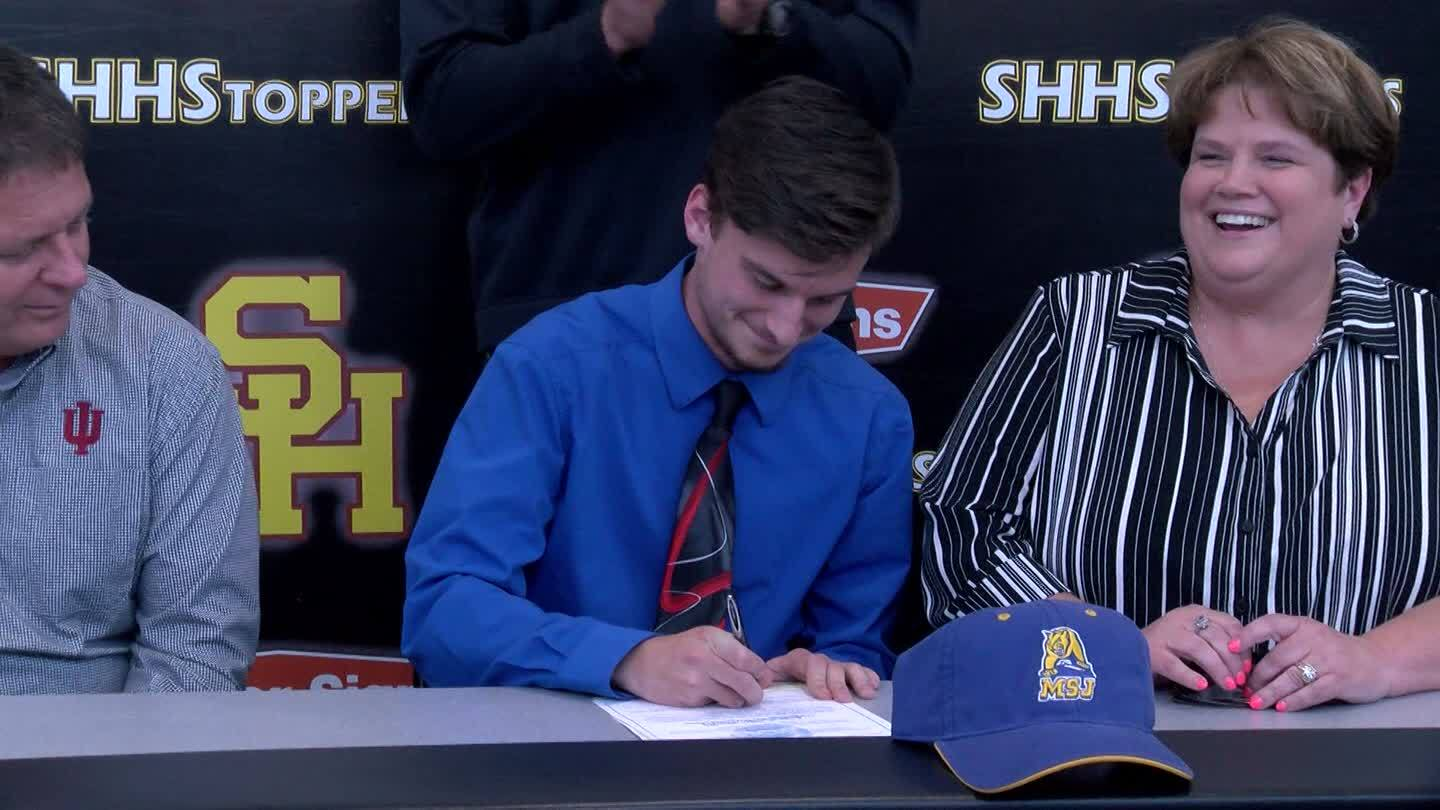 Science Hill Hilltopper Dan Good signs with Mount Saint Joesph's University