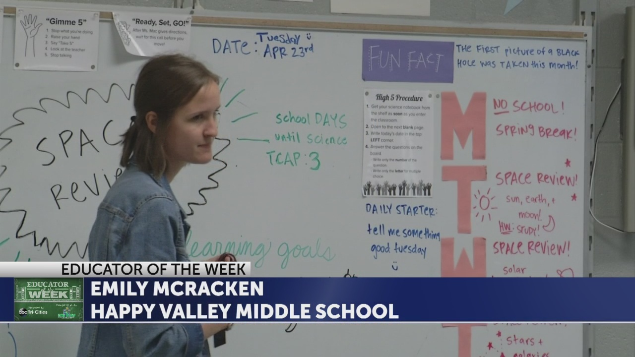 Emily McMacken is Educator of the Week