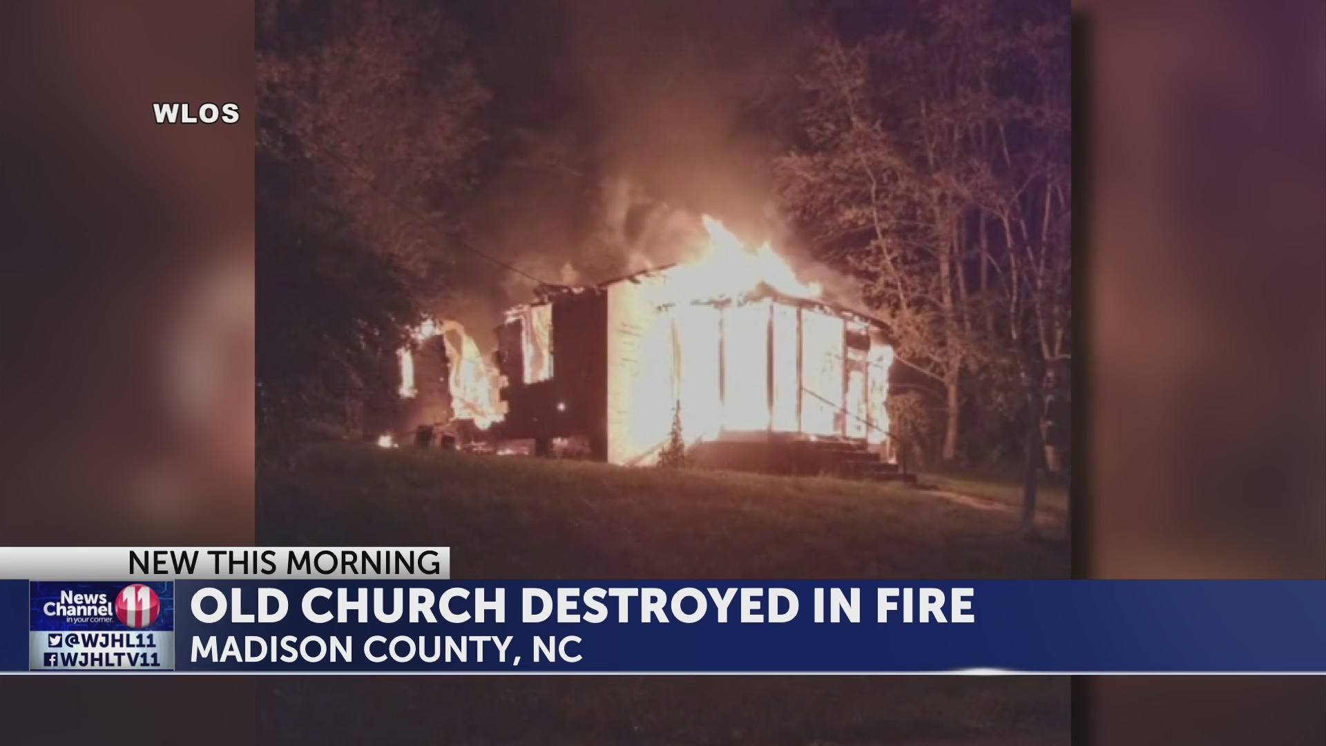 North Carolina church destroyed in fire