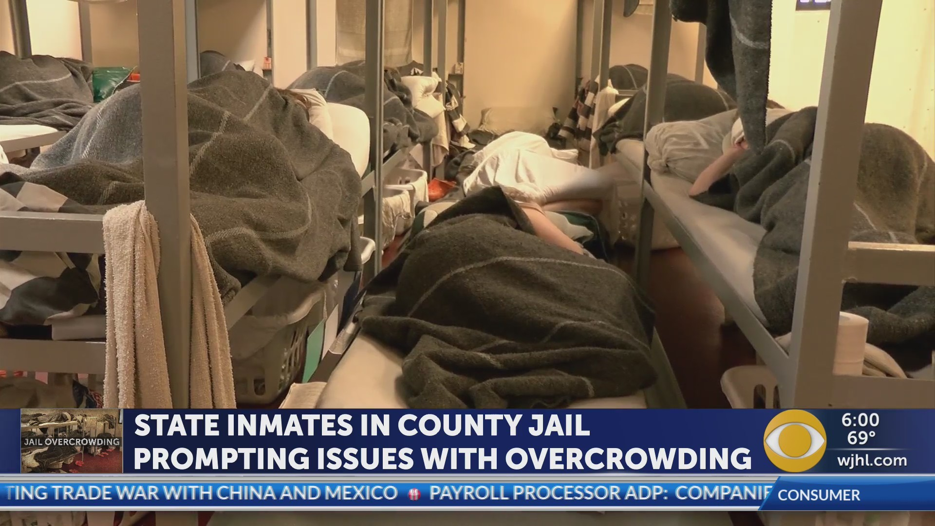 State inmate levels contributing to overcrowding in county jails