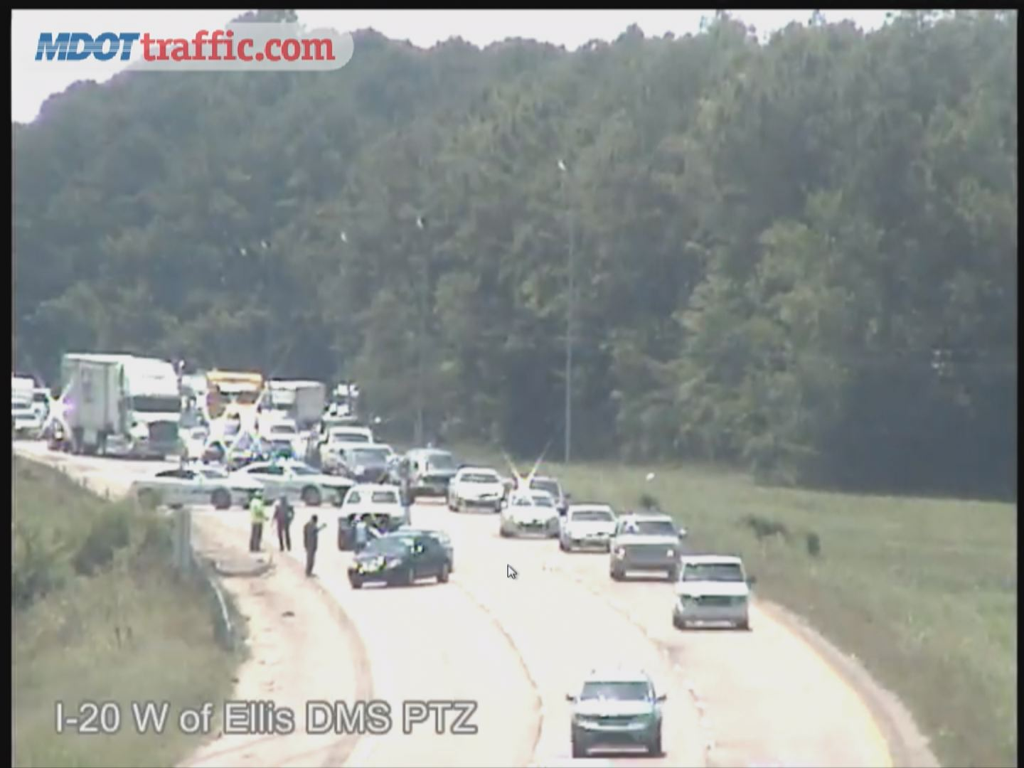 Traffic accident causes back-up on Interstate 20