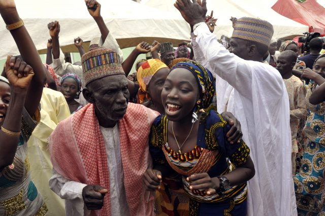 Nigeria Kidnapped Girls Photo by Olamikan Gbemiga, AP Photo_230582