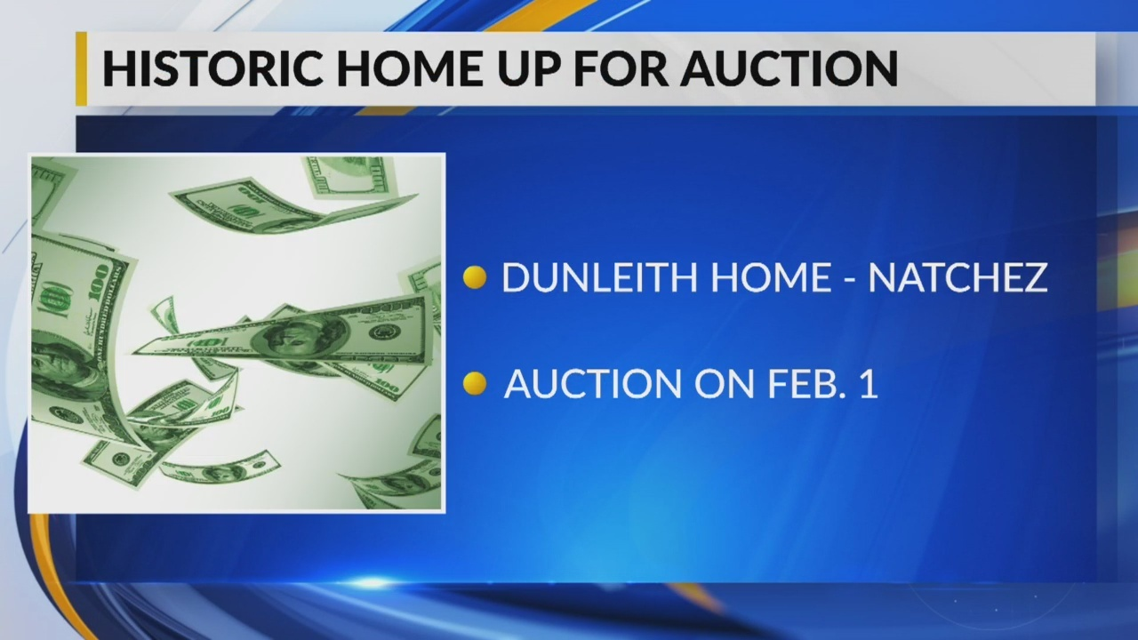 Historic Natchez Home to be Auctioned