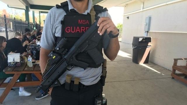 Manatee School in Florida armed guard